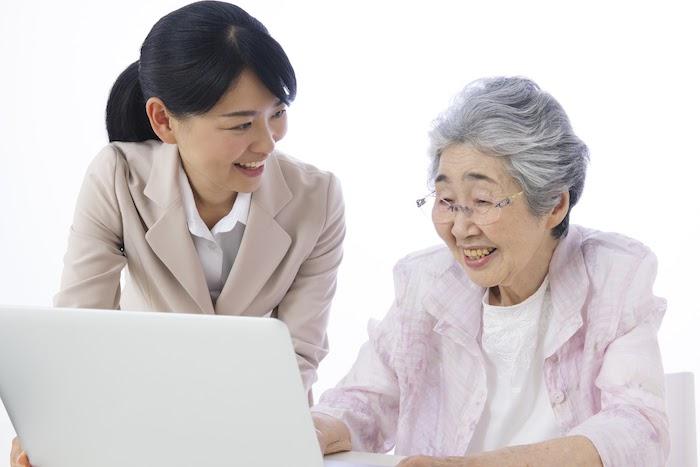 老人,パソコン,PC